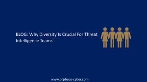 diversity in threat intelligence teams